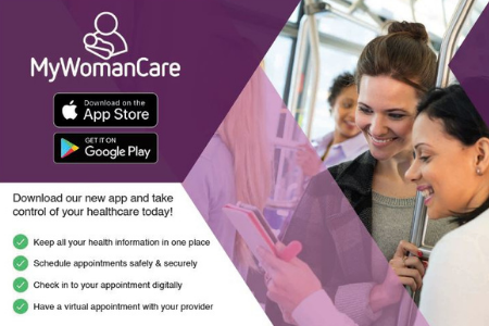 MyWomanCare App for patient check in